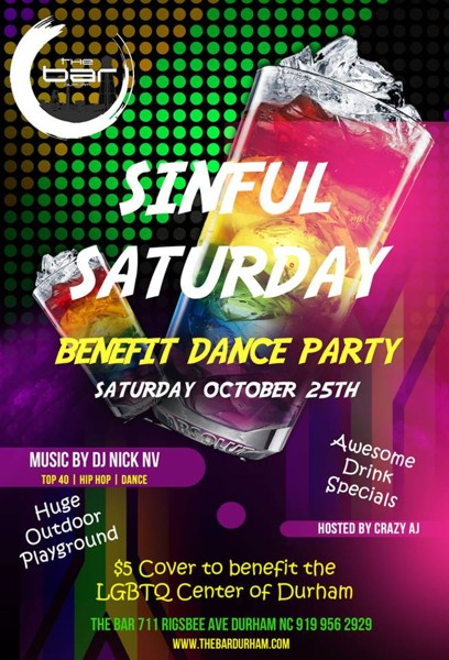 Sinful Saturday Benefit 10-25-2014