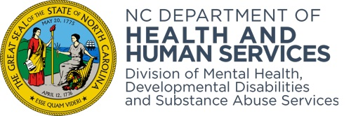 NCDHHS Mental Health Substance Abuse Services